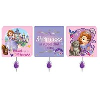 Disney Sofia the First Collection for Nursery / Toddler Room (First 3-Pack Wall Hooks)
