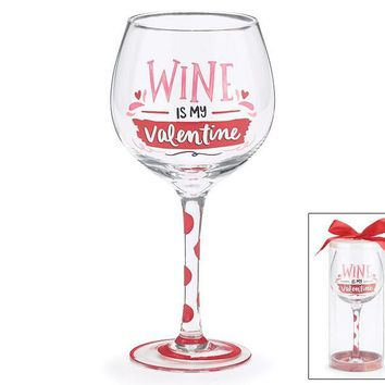 Valentine Long Stemmed Glass