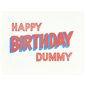 Happy Birthday Dummy Greeting Card