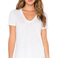 Lax Oversized V Neck Tee in White