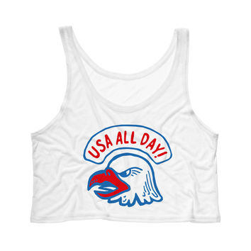 USA All Day Tank Top Crop
