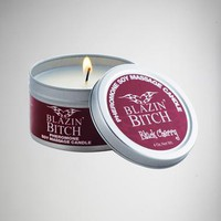 Blazin Bitch Black Cherry Pheromone Soy Massage Candle