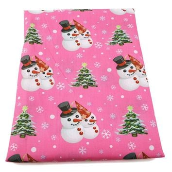 1/2 meter cotton fabric / snowman mermaid cartoon / 11 print options