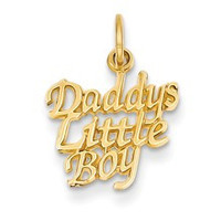 Daddy's Little Boy Charm in 14k Gold