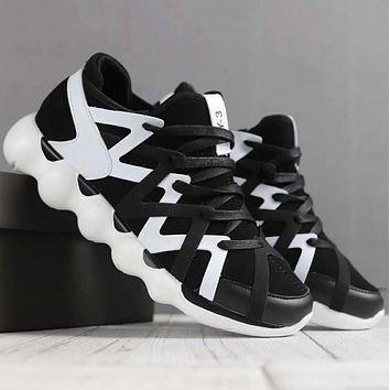 ADIDAS Y-3 Men Fashion Casual Running Sport Casual Shoes Sneakers Black+White G-SSRS-CJZX