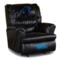 Carolina Panthers Leather Big Daddy Recliner