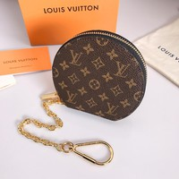 Louis Vuitton Lv Monogram Pouch Bag Charm And Key Holder Style 2 - Best Online Sale