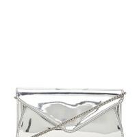 Metallic Faux Leather Crossbody