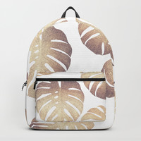 Pastel monstera Backpack by Printapix