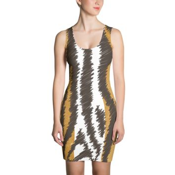 Tiger Print - Fitted Dress - DogzPrinted