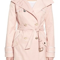 GUESS Hooded Double Breasted Trench Coat | Nordstrom