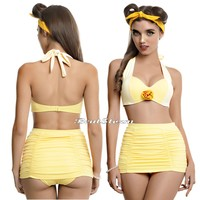 Licensed cool Disney Beauty and The Beast Belle Swim Suit Swimsuit Bikini Top OR Skirt Bottom