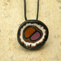 Unique Pendant in black, white, brown...