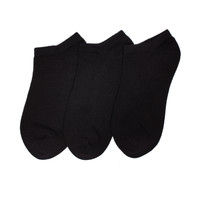 6-Pack No Show Sport Liner with Comfortoe Technology Socks (Black)