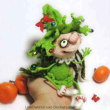 064 Doll Marie the Christmas tree - Amigurumi Crochet Pattern PDF file by Pertseva Etsy