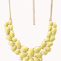 Femme Cluster Faux Stone Necklace