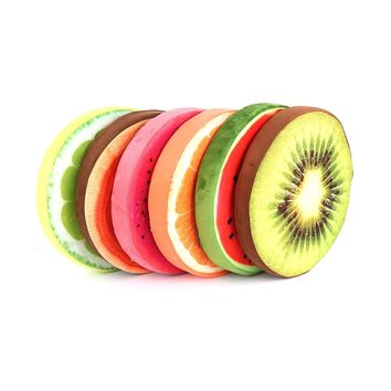 High quality Cute 3D Fruit Round Cushion Pillow Simulation Plush Fruit Pad Pillow For Chair Seat Sofa Floor Mat Gift