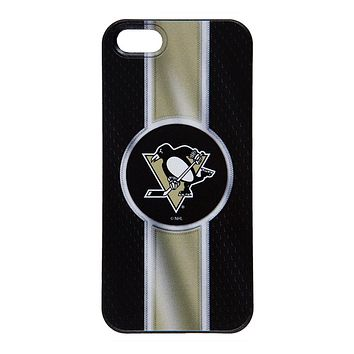 Pittsburgh Penguins - Logo Jersey Stripe iPhone 5/5S Thinshield Snap-On Case