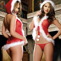 Nuisette Lingerie Sexy Dessous Costume Christmas Lingerie