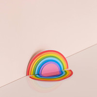 Mustard Gifts Rainbow Desk Notepad | Urban Outfitters