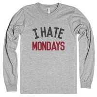 I Hate Mondays Long Sleeve T-shirt Crimson Ide02052009-T-Shirt