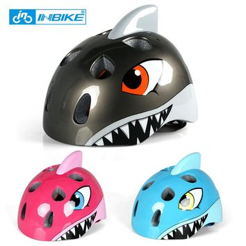 INBIKE Kids Motorcycle Bicycle Helmets Children's Helmets High Density EPS Cartoon Skating Child Boys Girls Cycling Riding CH-2