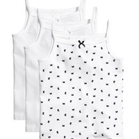 3-pack Jersey Camisole Tops - from H&M