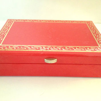 Vintage Lady Buxton Jewelry Box
