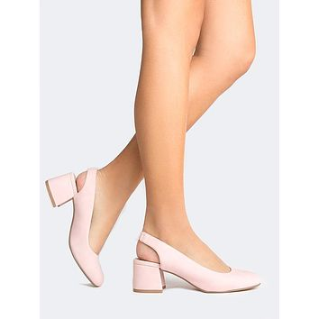 Pink Pointed Toe Sling Back