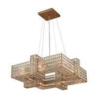 11125/8 Lexicon 8 Light Chandelier In Matte Gold With Clear Crystal - Free Shipping!