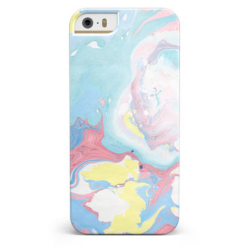 Marbleized Swirling Cotton Candy iPhone 5/5s or SE INK-Fuzed Case