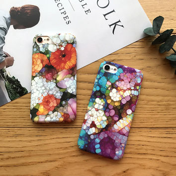 So Beautiful Floral Case for iPhone 7 7Plus & iPhone se 5s 6 6 Plus High Quality Cover +Gift Box