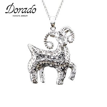 Dorado cubic zirconia goat  necklace
