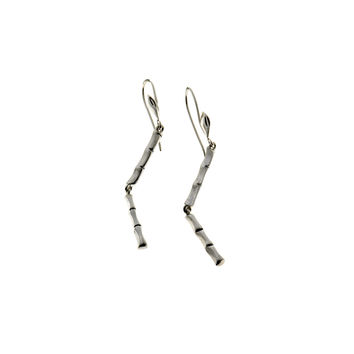 Fossil Bamboo Sterling Silver Stiletto Earring