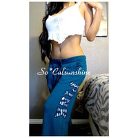 Victoria's Secret zebra boyfriend sweats($ 50) - Mercari: Anyone can buy & sell