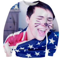 Danisnotonfire - Dan Howell - American Flag Sweatshirt