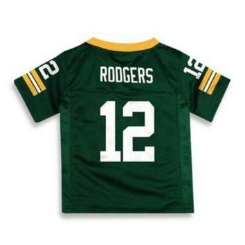 CHEN1ER NFL Green Bay Packers Aaron Rodgers Jersey in Green