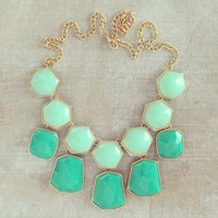 MINT HONEYCOMB NECKLACE