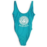 Versace Fashion Women Backless One Piece Swimwear Bikini Swimsuit