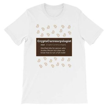 Cryptocurrencyologist-Crypto Bubble shirt-Bitcoin art shirt-Bitcoin Bubble shirt-Bitcoin gag gift-Funny Bitcoin Shirt (Unisex)|Crypto Curren
