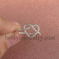 Heart Silver Ring - Luxury Fasion - Simple Heart - Twisted Heart Ring - Rope Heart Ring - Sterling Silver/18K Gold Plated