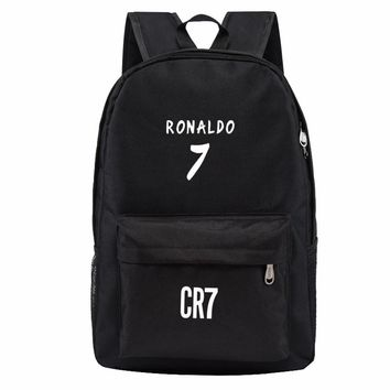 Teen Backpack Men School Bags for Teenagers Boys Book Bag Back Pack Ronaldo kids Bookbags for Children Cool Traveling Schoolbags