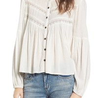 Sun & Shadow Boho Swing Blouse | Nordstrom