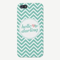Hello Darling Chevron Stripes iPhone 5 Case from Zazzle.com