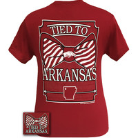 New Arkansas Razorbacks Tied To State Bow Girlie Bright T Shirt
