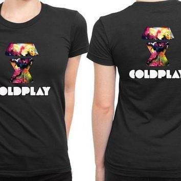 CREYH9S Coldplay Logo 2 Sided Womens T Shirt