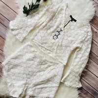 Love Flower Ivory Two Piece Set