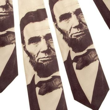 Abraham Lincoln Necktie Sepia Tie by ScatterbrainTies on Etsy