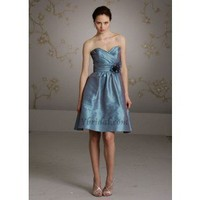 A-Line Strapless Knee-Length Taffeta Prom Dress SAL0957