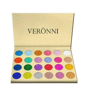 VERONNI 24 Color Glitter Eyeshadow Palette Pressed Powder Contour Waterproof Shimmer Makeup Eye Shadow Pallete Base Maquiagem Z3
